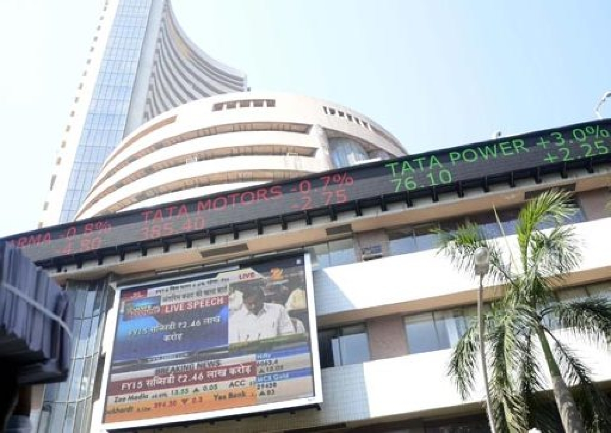 Sensex closes over 650 points high at 22,994 points