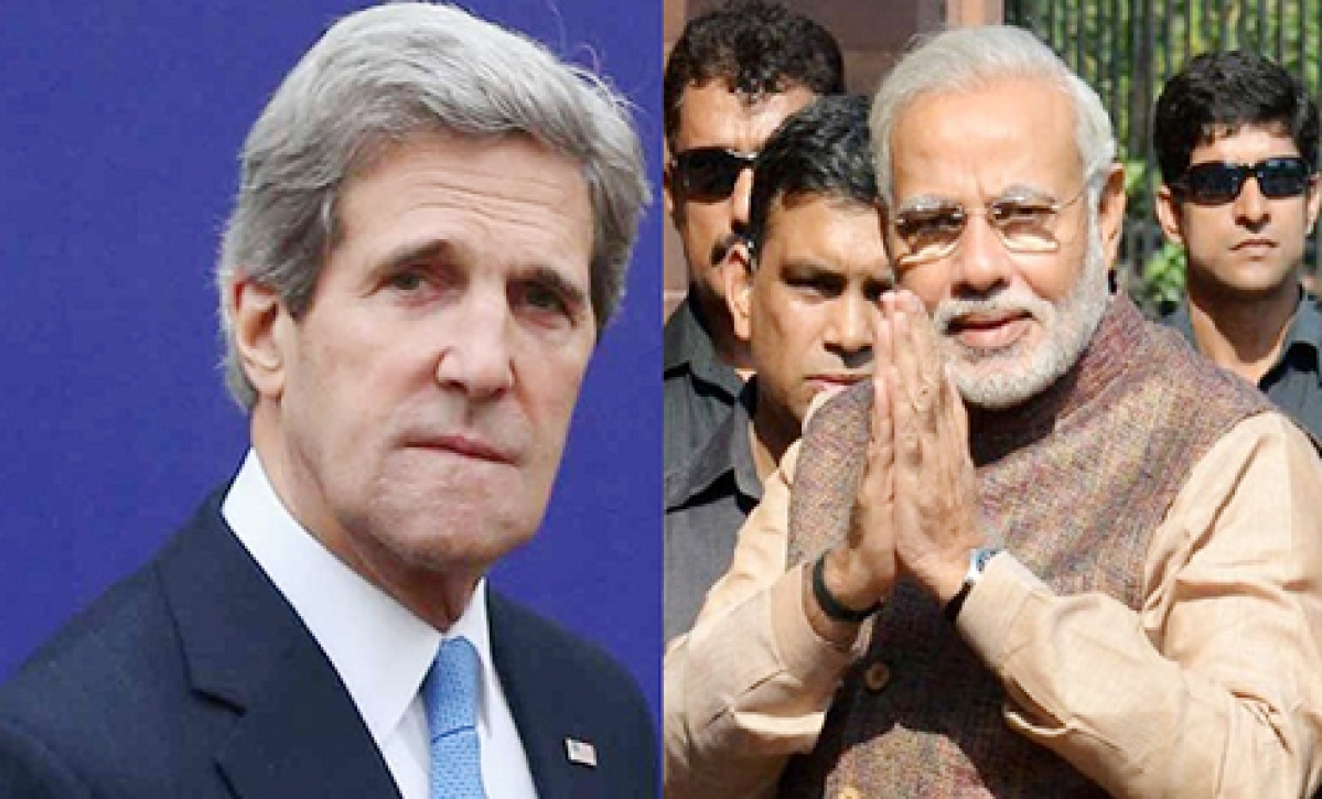 US chants 'Namo, Namo…'  ahead of Kerry's arrival