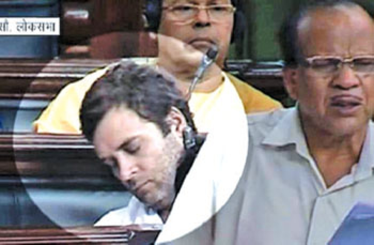Rahul catches up on much needed sleep