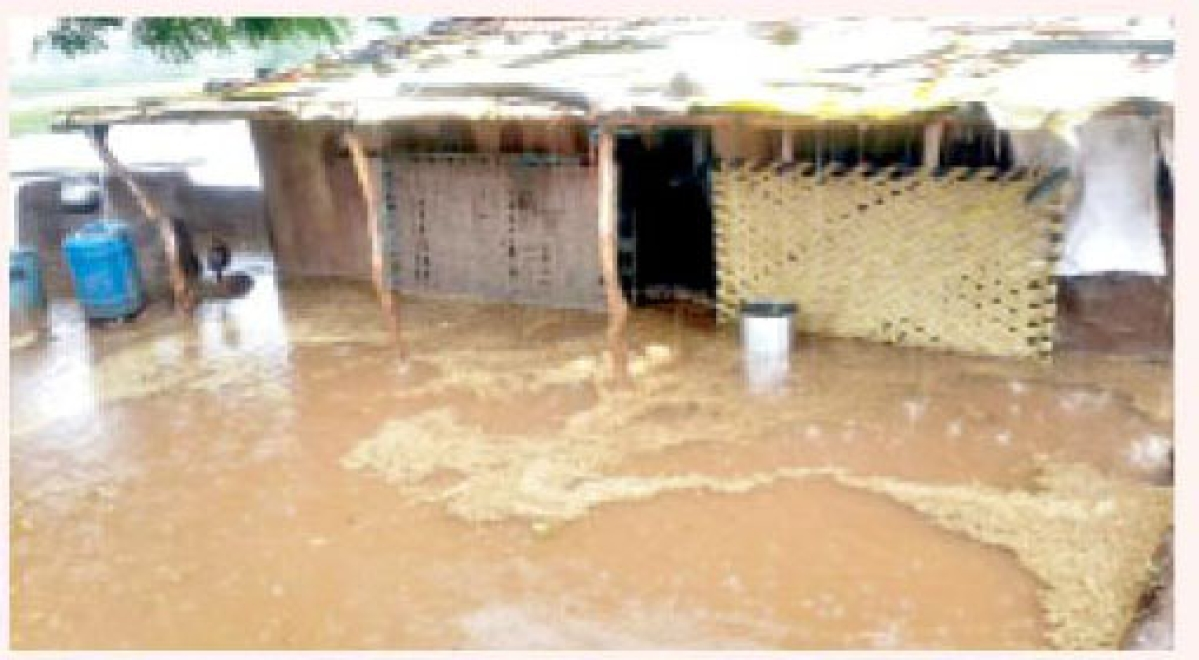 Houses get filled with water in heavy rains
