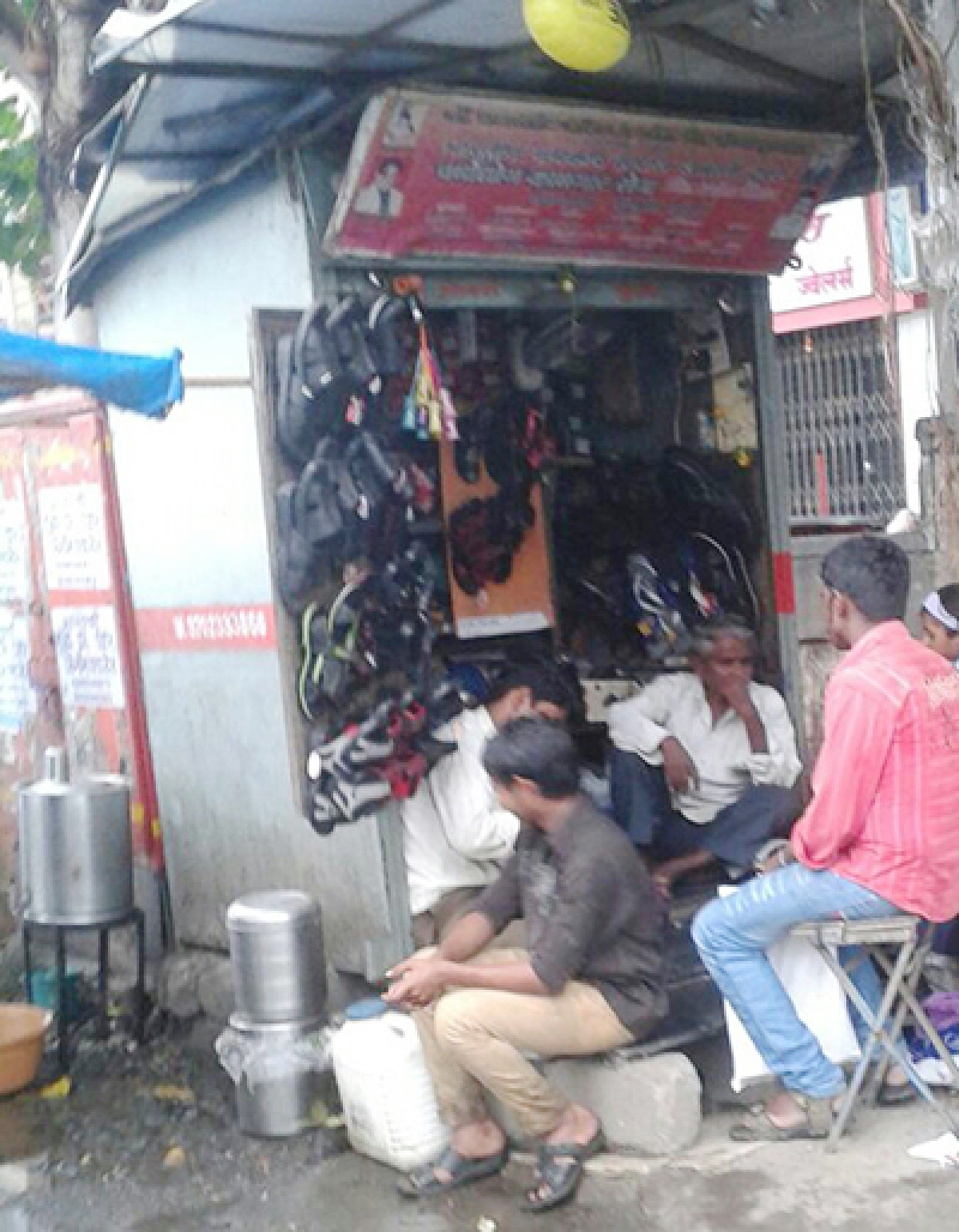 A cobbler stall in Mira Road