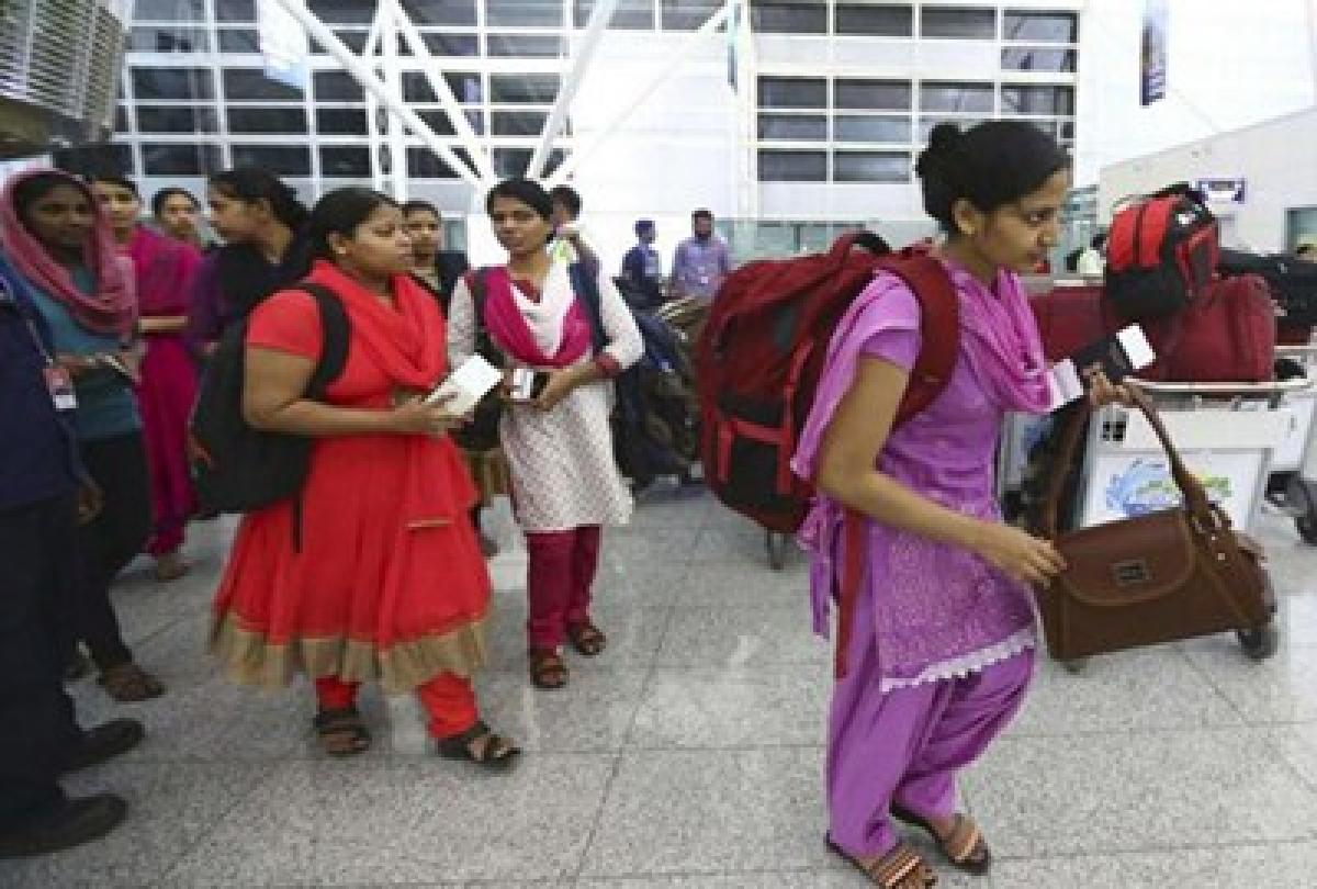 Nurses back in India