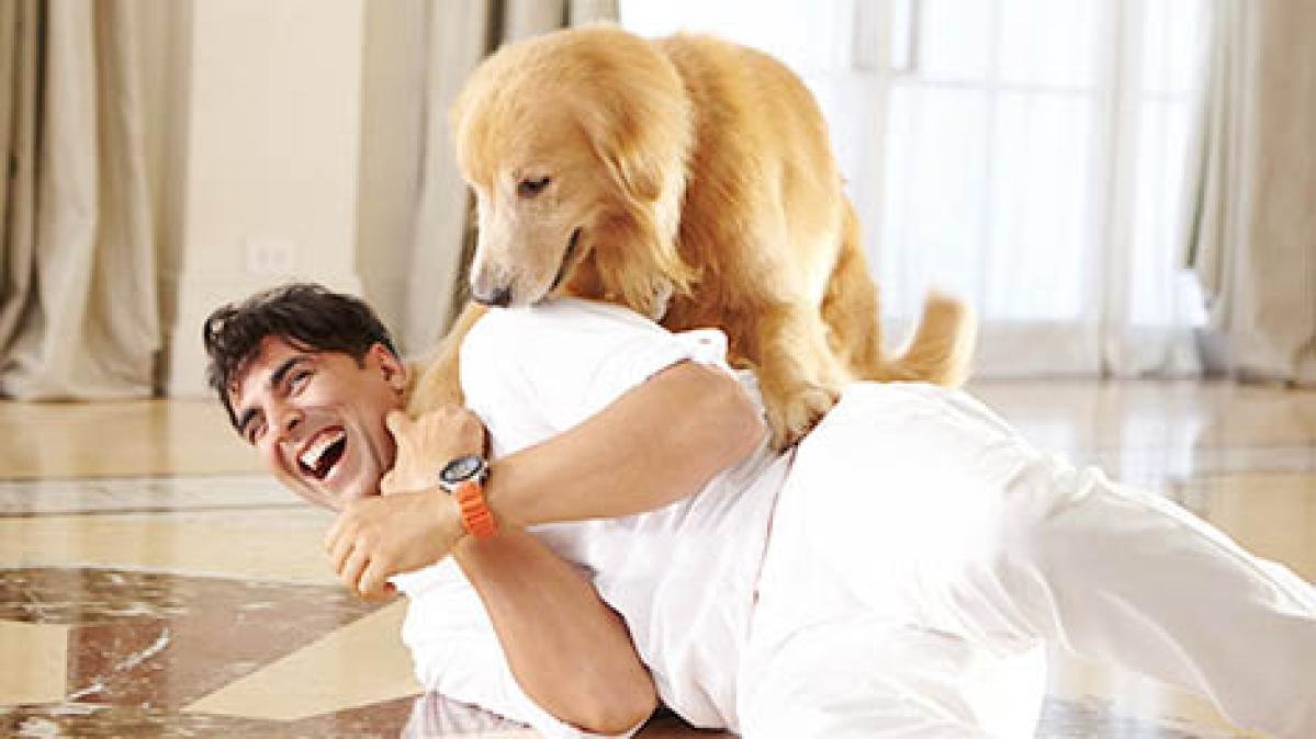 Akshay, Entertainment: Canine bonding