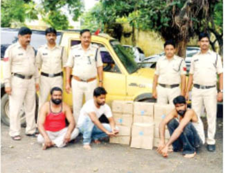 Police arrest 3 with 10 cartons illegal liquor