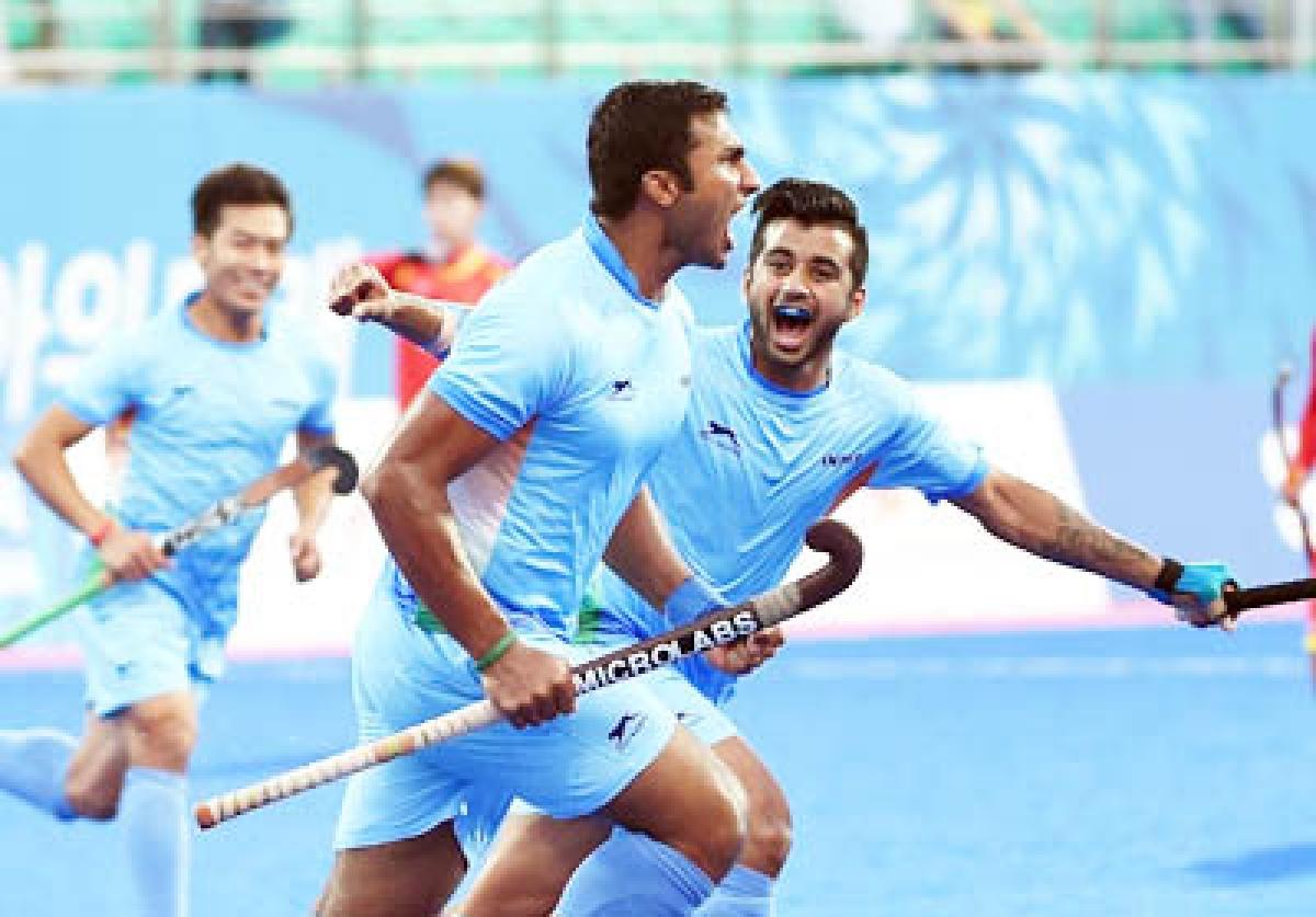 Indian hockey team in Asiad final