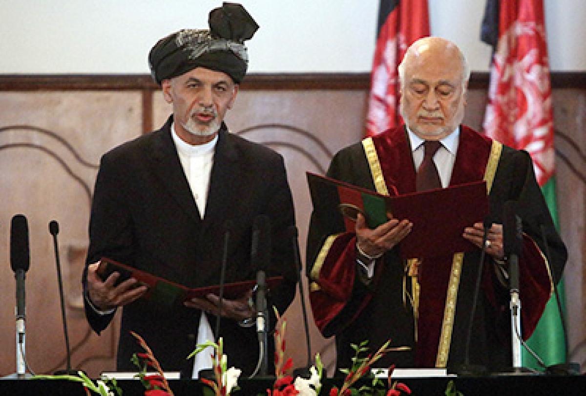 Ghani sworn in as Afghan president