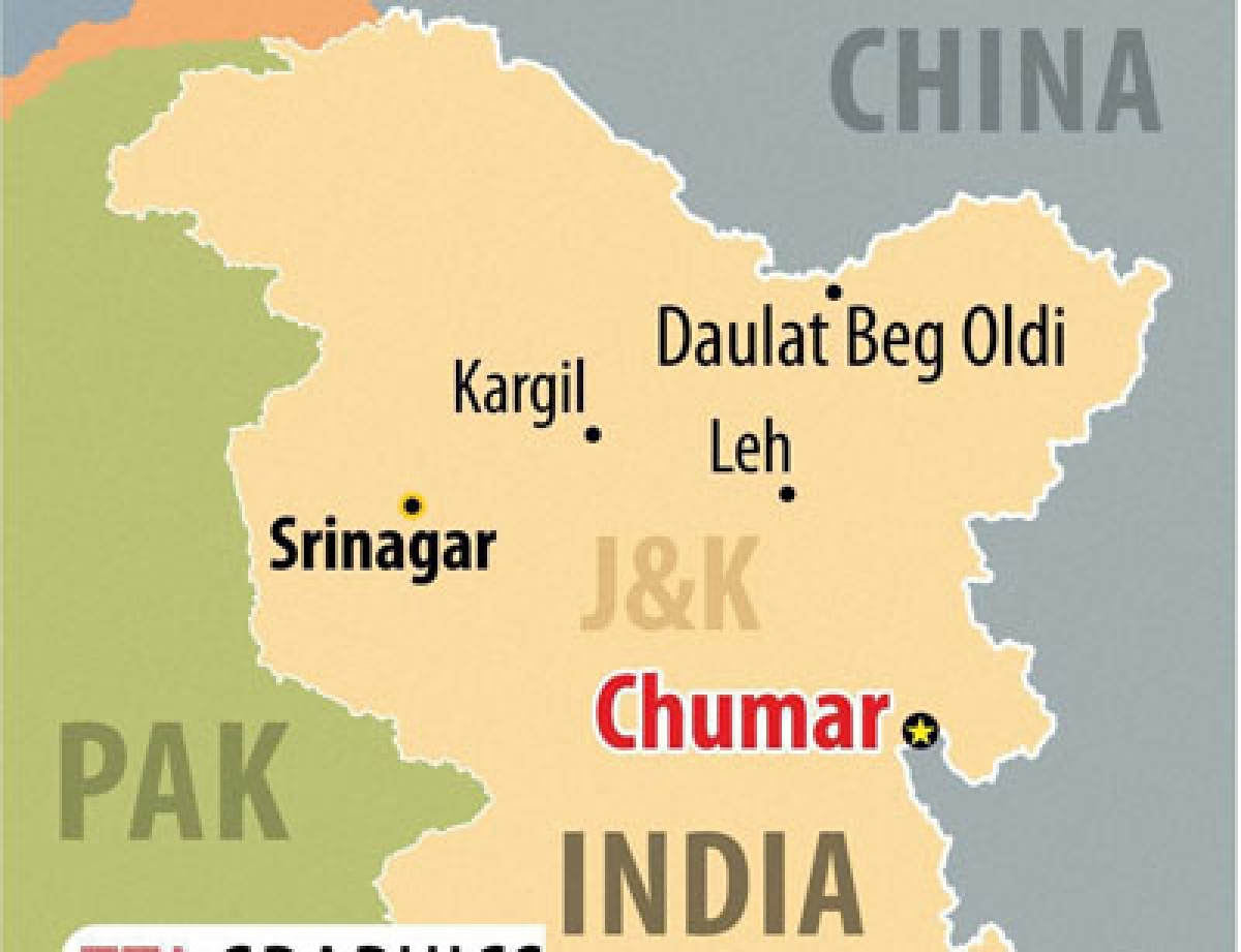Now, Chinese tents come up in Chumar