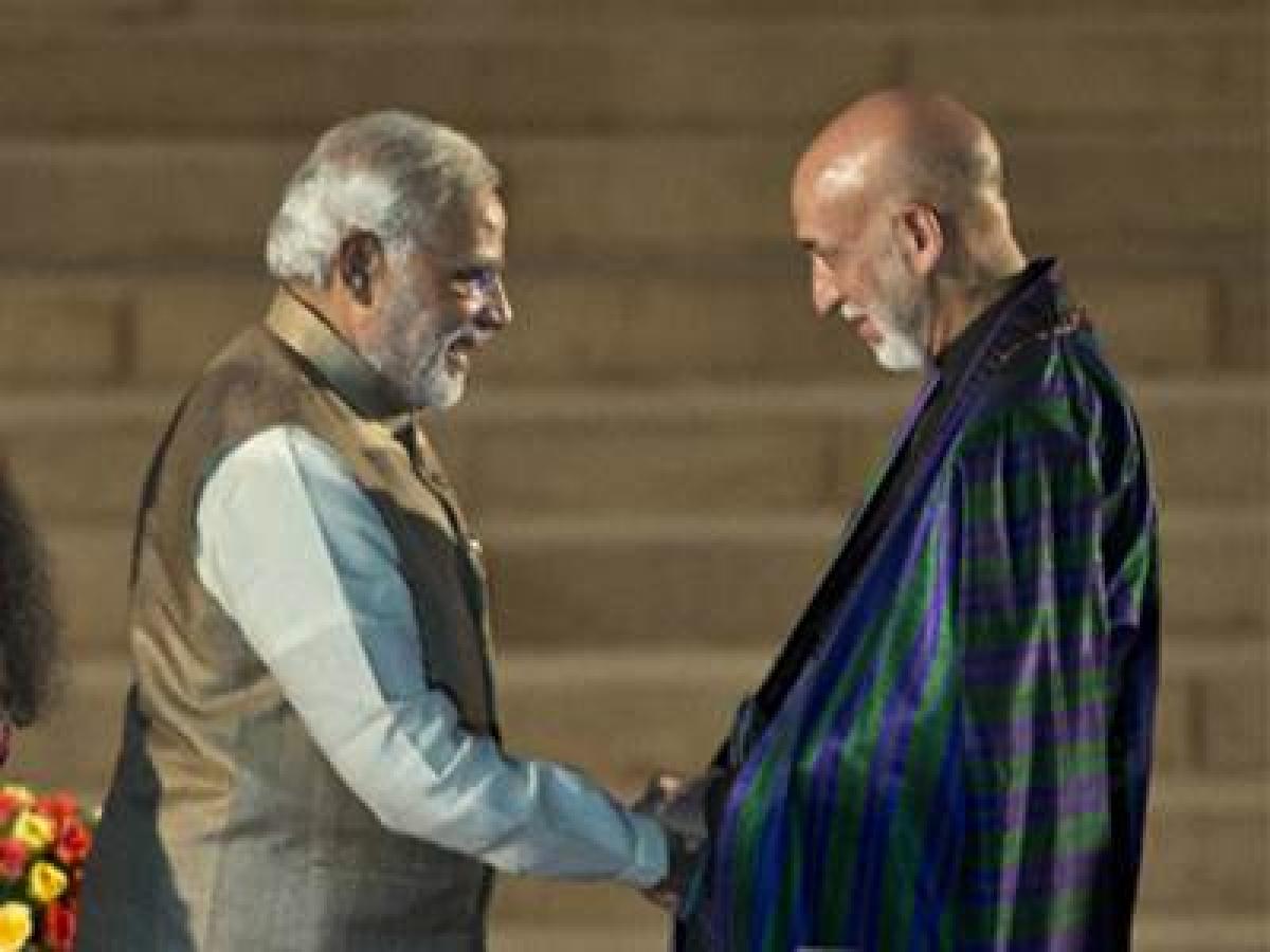 Former Afghanistan Prez Karzai calls on PM Modi