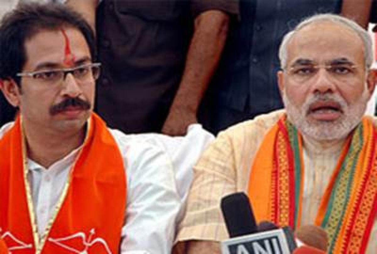 Uddhav Thackeray with PM Narendra Modi