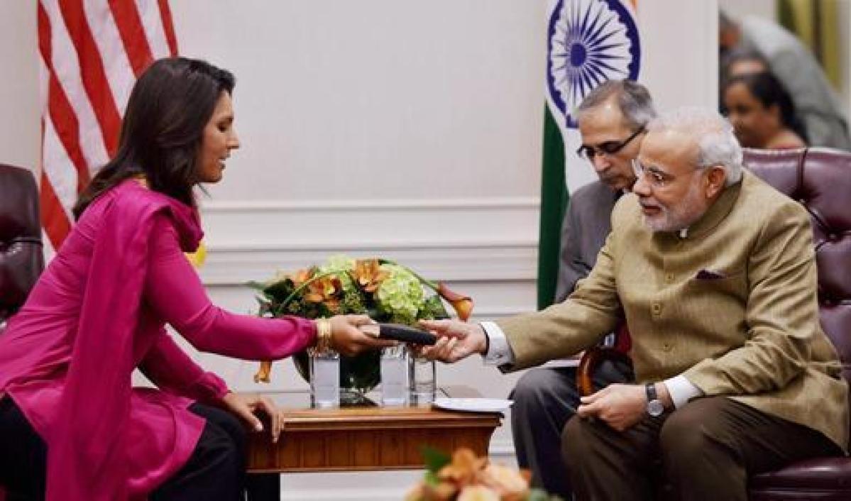 Modi gets Gita as gift from Tulsi Gabbard