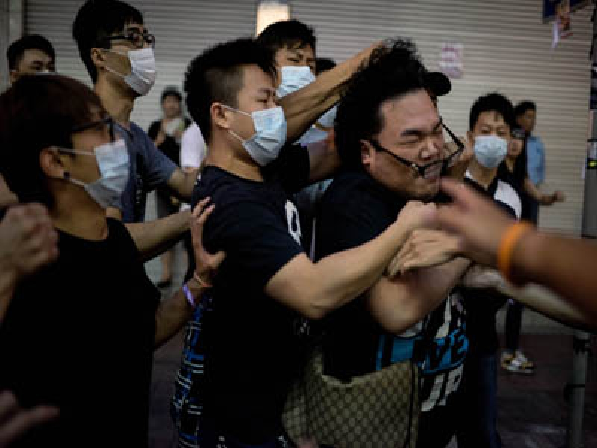 Protesters are under attack in Hong Kong