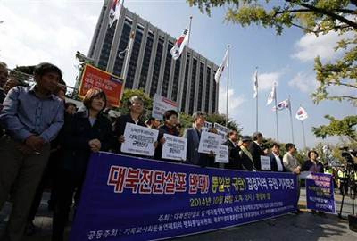 South. Korean activists vow to continue leafleting