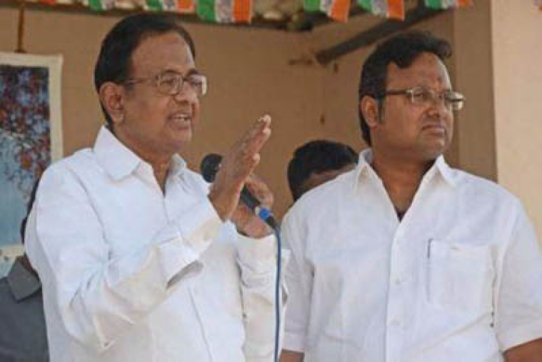 'Threatened' Chidambaram trying to politicize 'raid' issue: BJP