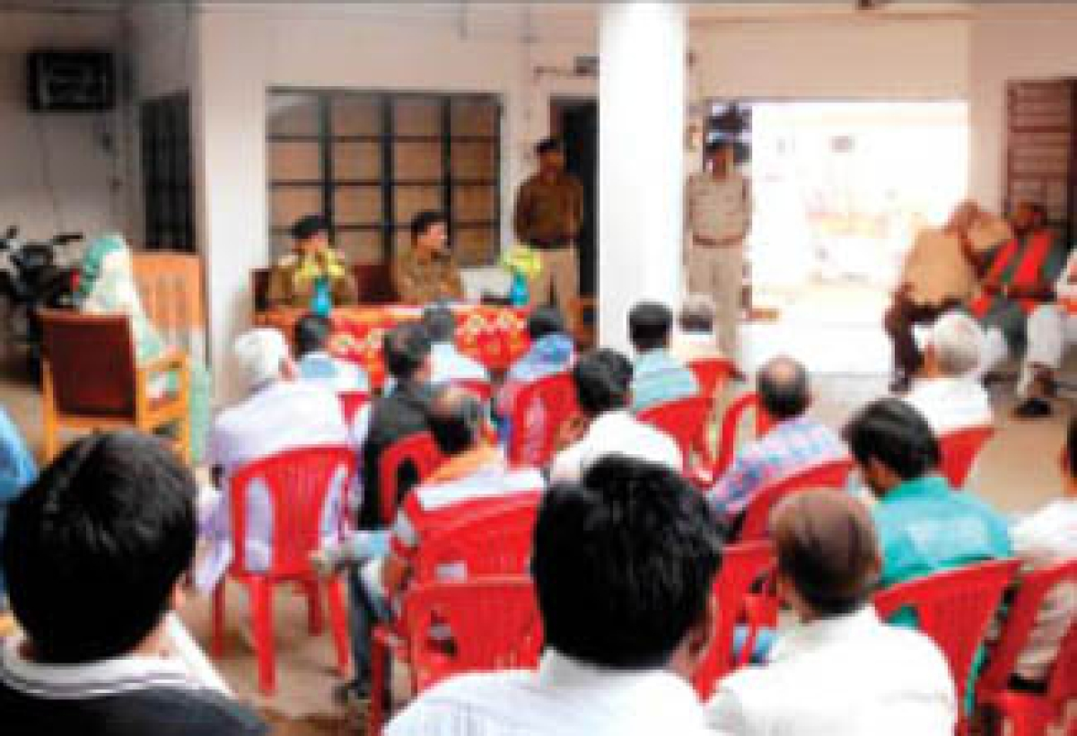 SP holds public contact programme at Dhimarkhera village PS