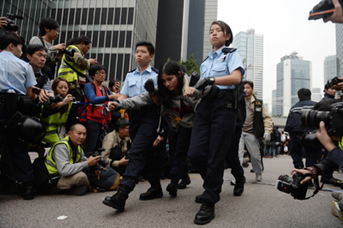 Two protesters in critical condition amid chaos in HK