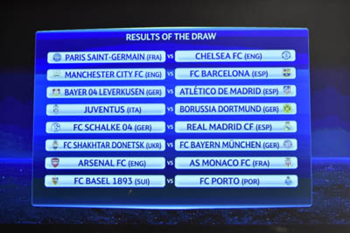 Chelsea face PSG, City take on Barca