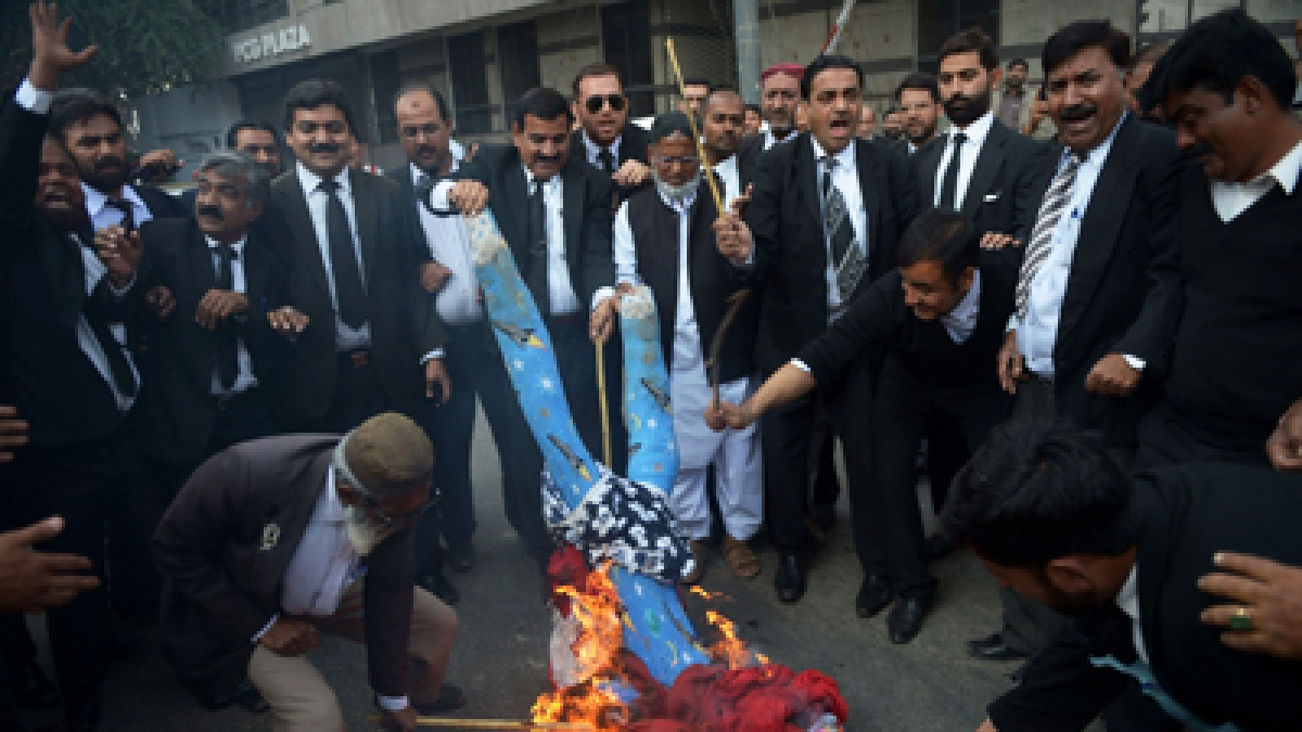 Lawyers stage protest against spate of killings in Uttar Pradesh