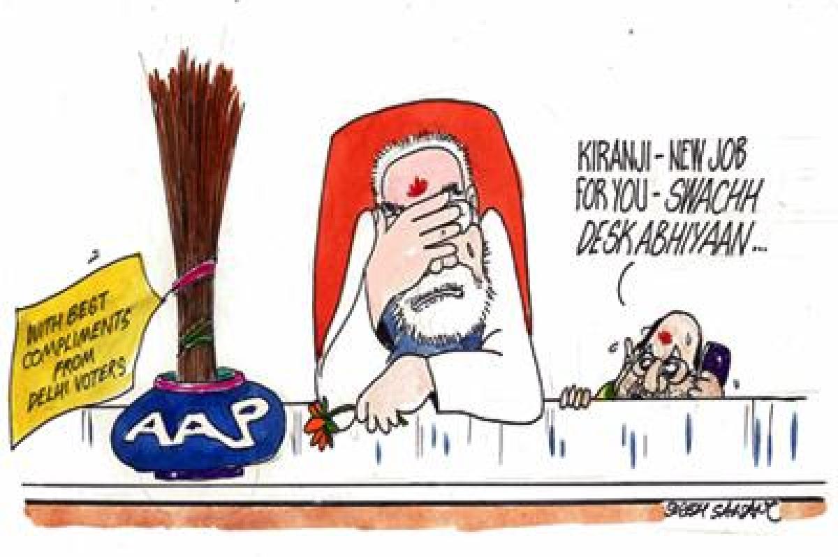 Narendra Modi still in shock after Delhi polls results