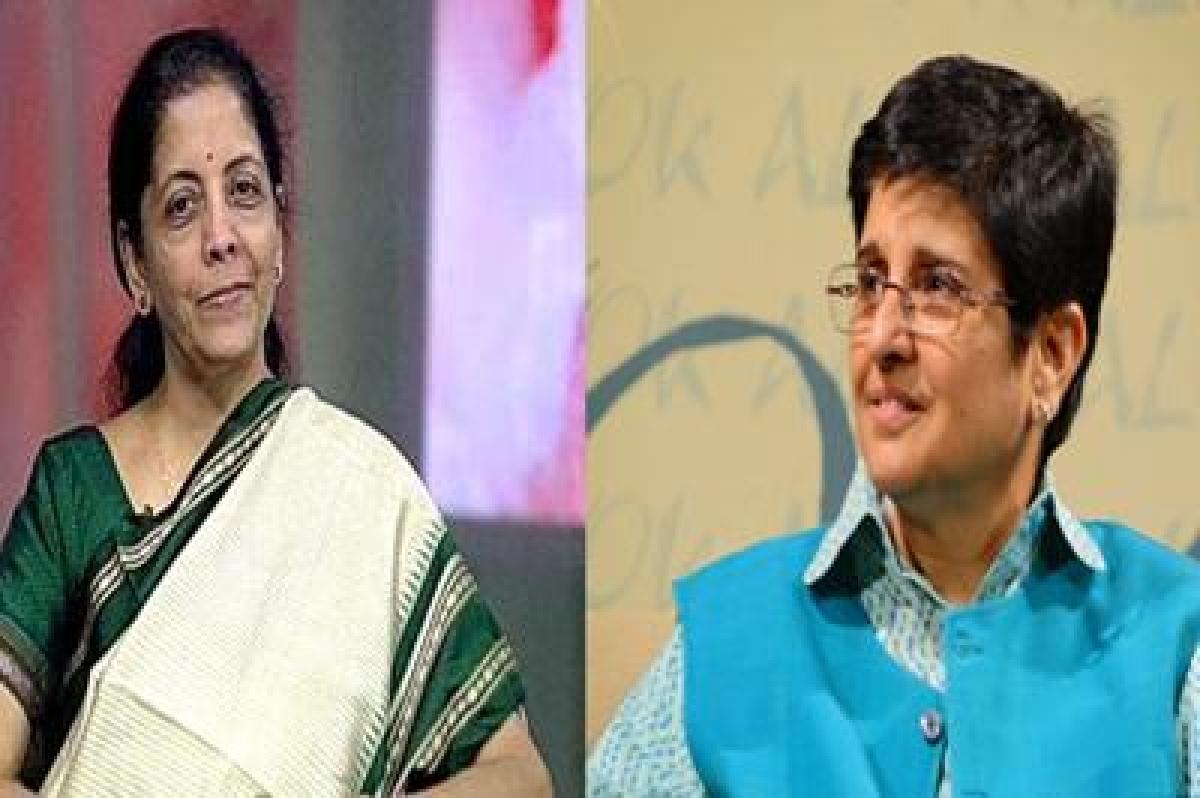 Nirmala Sitharaman meets Kiran Bedi, hopeful of winning Delhi polls