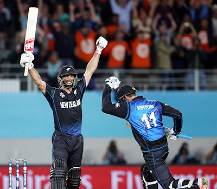 New Zealand beat Bangladesh by two wickets in Cricket World Cup