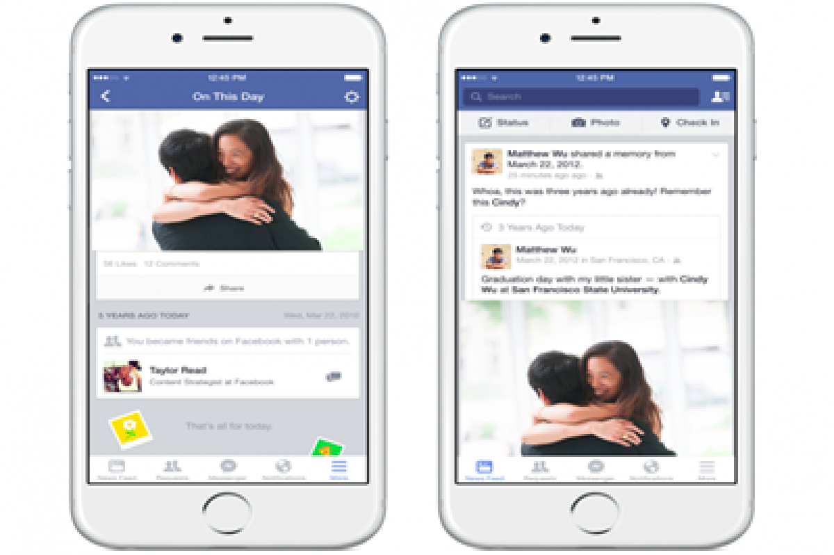 Facebook introduces 'On this Day' feature allowing users to see feeds from given date in past years