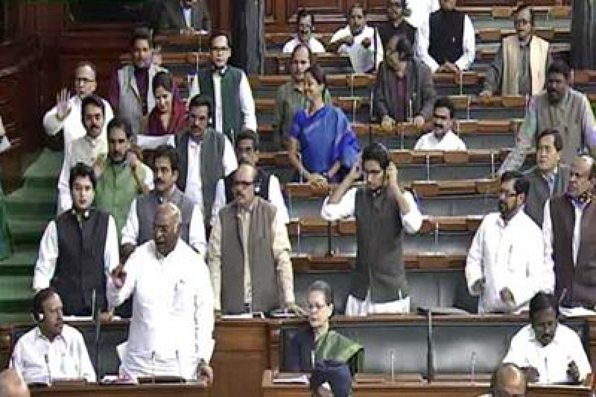 Congress gives adjournment notice in Lok Sabha