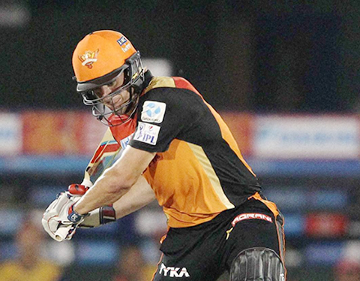 Sunrisers hold nerve,  move to fourth spot