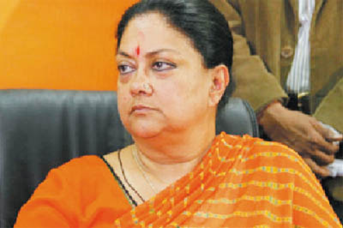 Raje spends 3 days long confinement  in MP temple