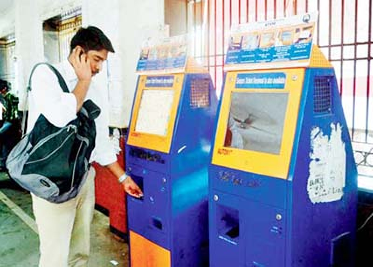 Suburban railway stns  to get cash operated  ticket vending machines
