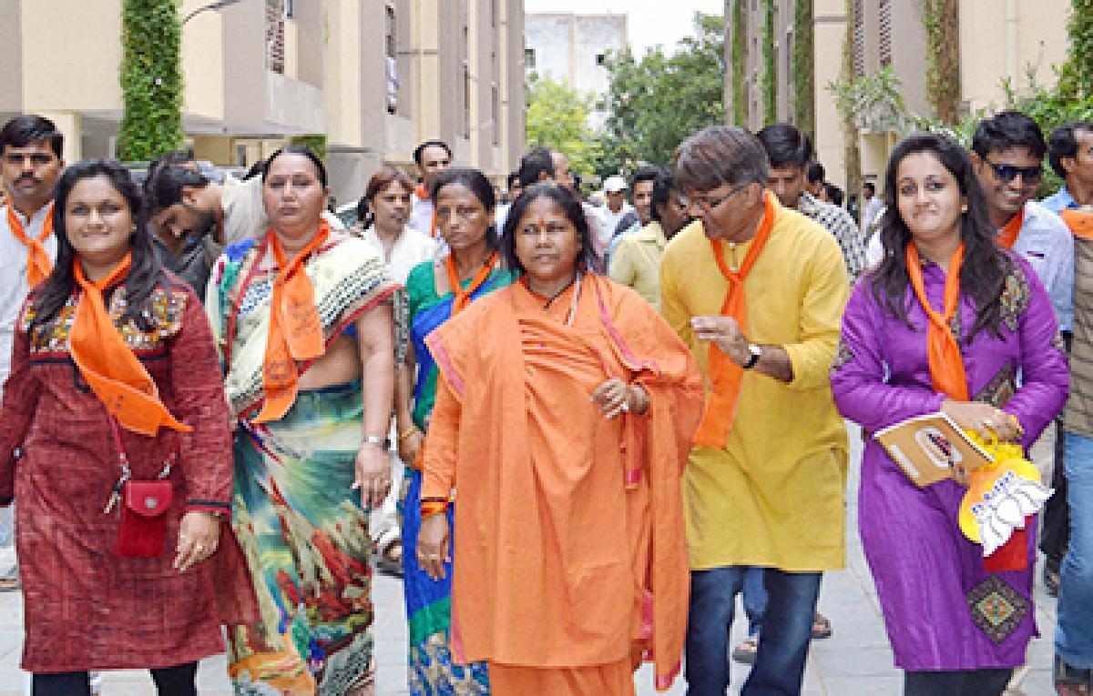 Congress-JD(S) joined hands with selfish motive, their govt won't last long: MoS Sadhvi Niranjan Jyoti