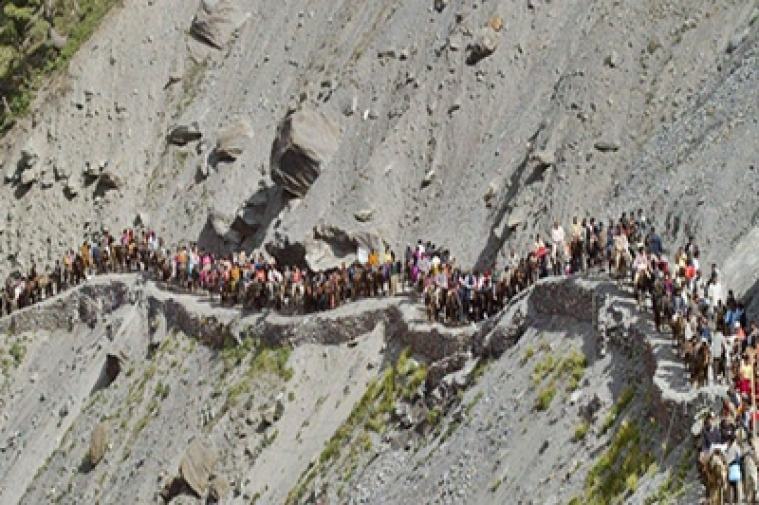 Small batch of 34 pilgrims leaves for Amarnath
