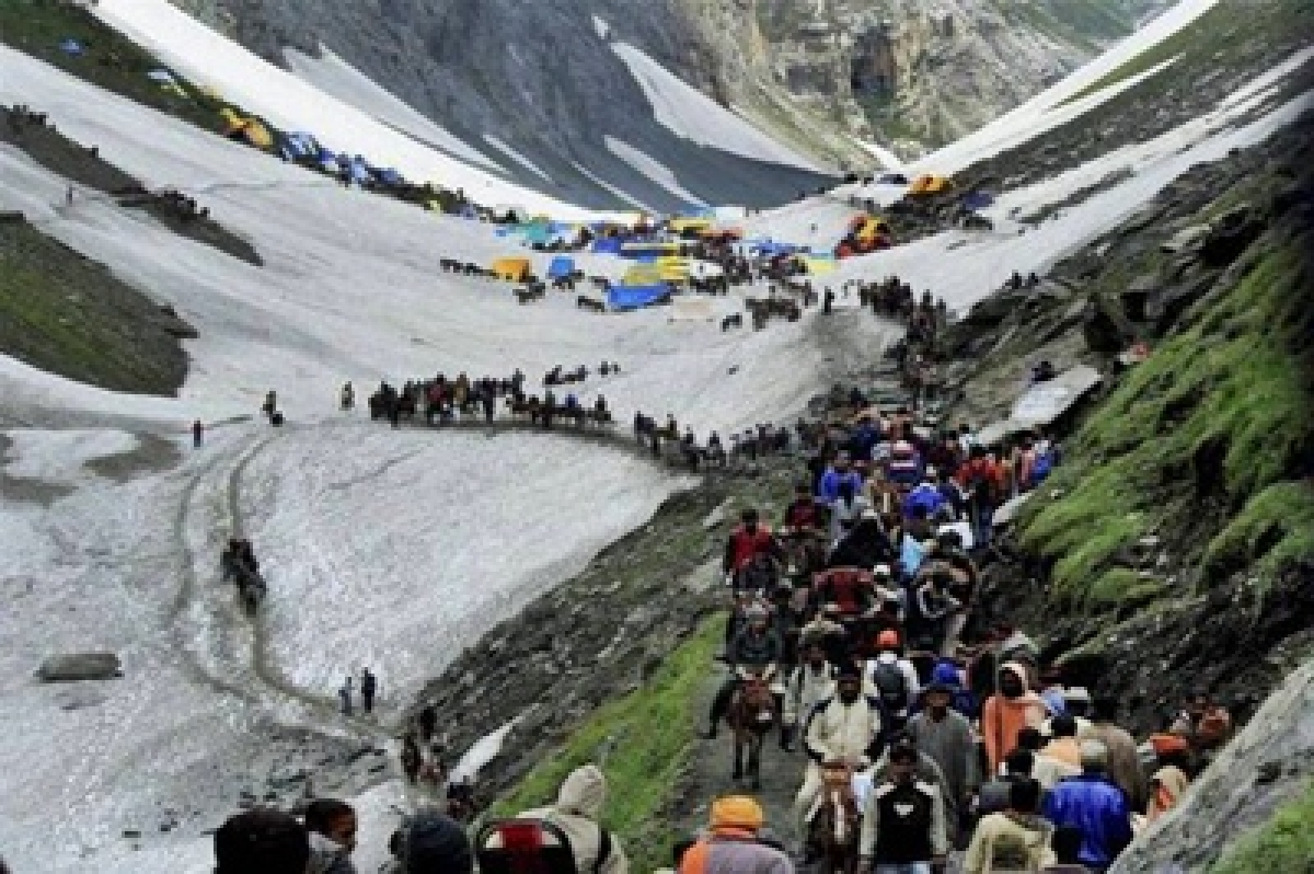 Amarnath Yatra remains halted for third consecutive day