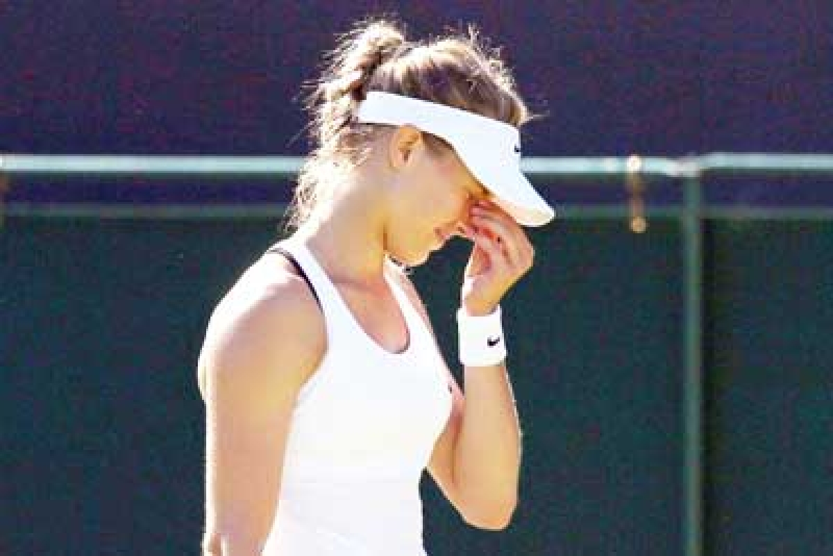 Bouchard faults with black bra