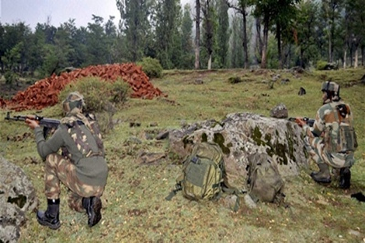 Five guerrillas, one soldier killed near LoC