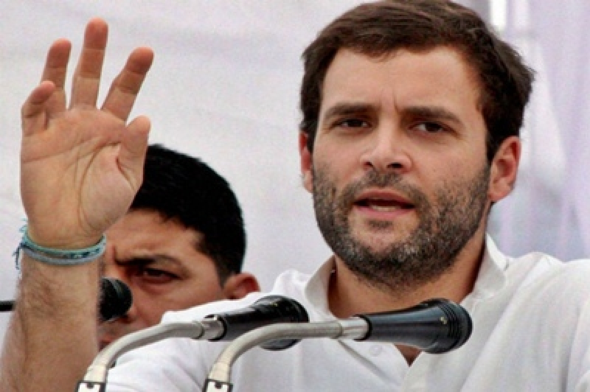 Rahul Gandhi shares stage with Left leaders