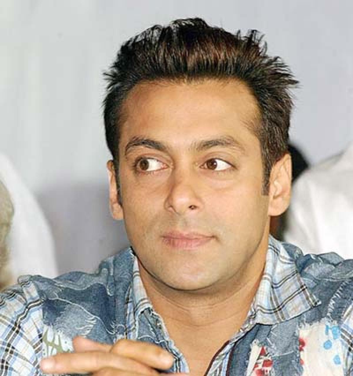 Salman Khan, actor poses for the photographers in Mumbai, Maharashtra, India