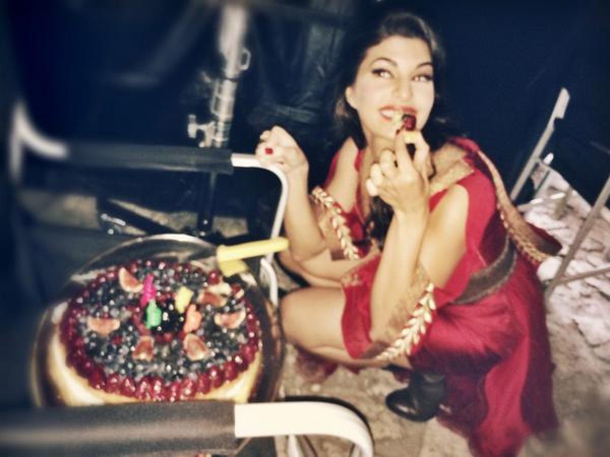 Jacqueline Fernandez celebrates birthday with media