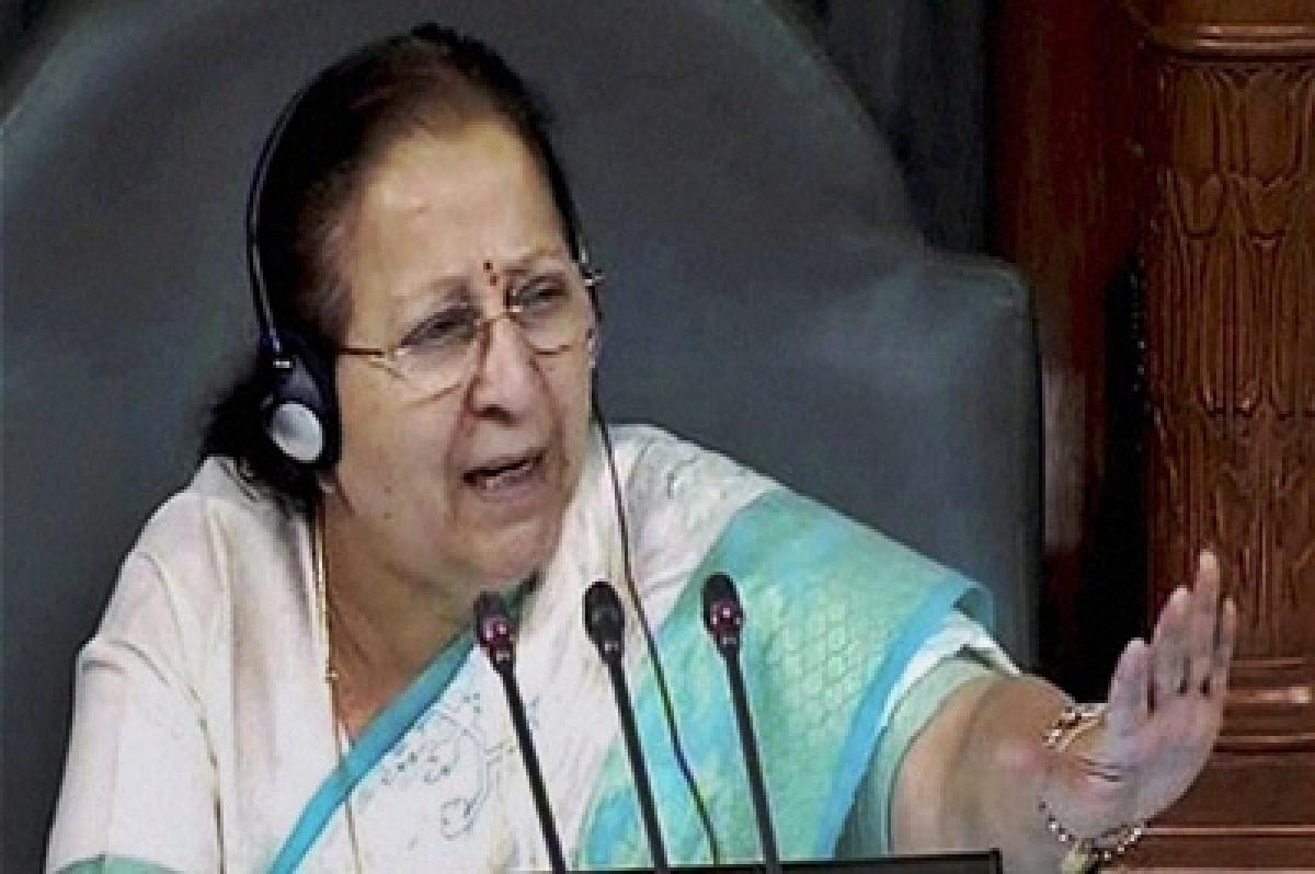 LS Speaker Sumitra Mahajan rejects Congress demand for adjournment