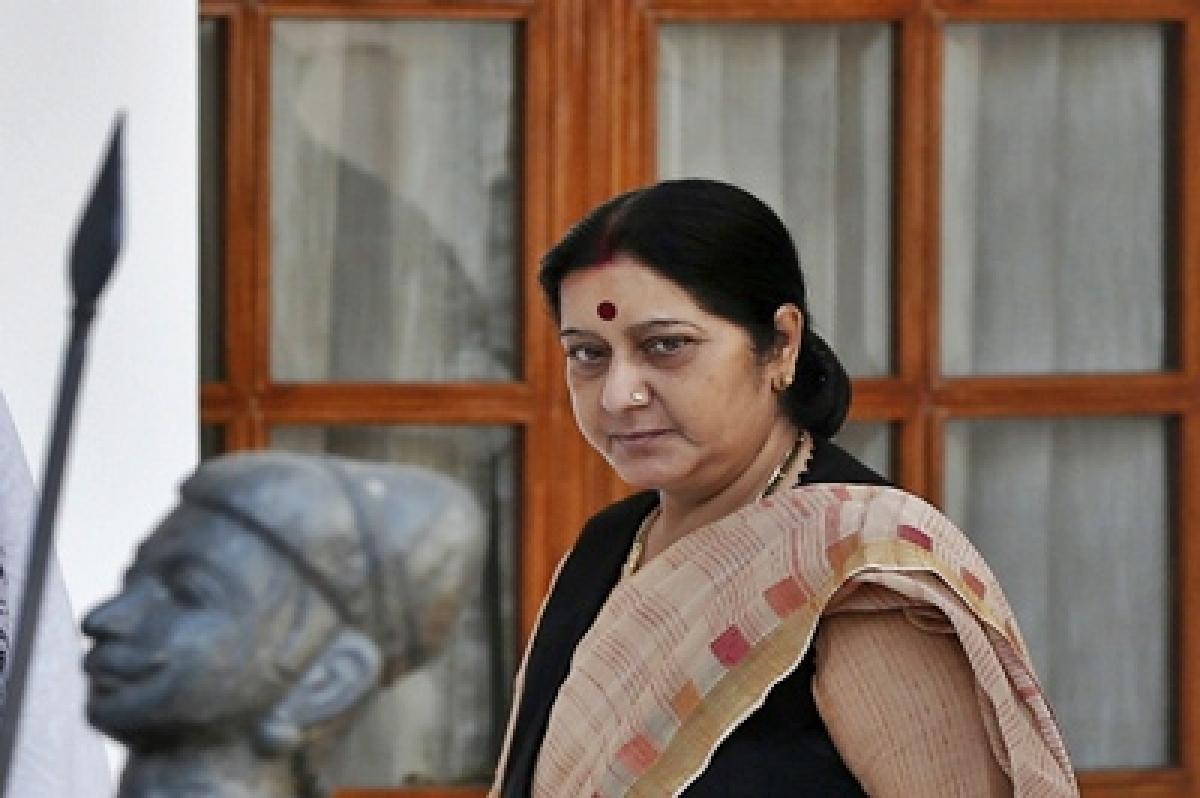 Sushma Swaraj meets GCC ministers