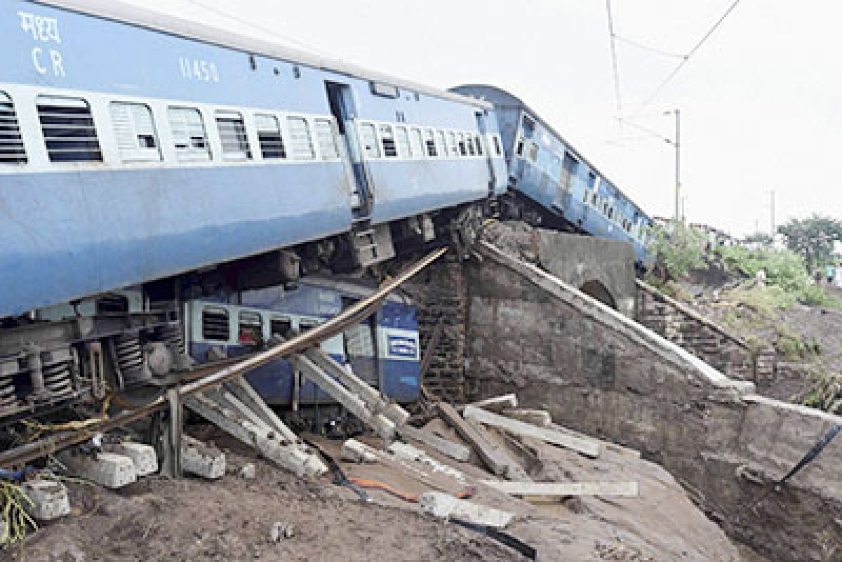 Harda: Wreckage of bogies of a train after two express trains derailed in Harda district of Madhya Pradesh. (File Photo)