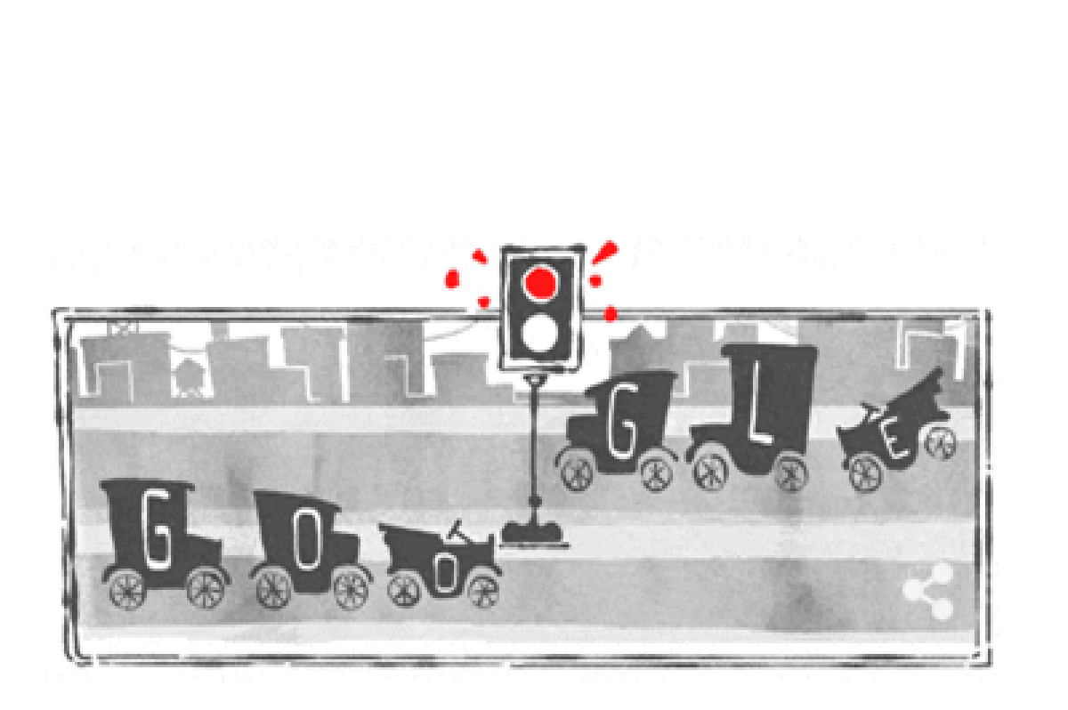 Google doodle celebrates 101 years of 'electric traffic light'