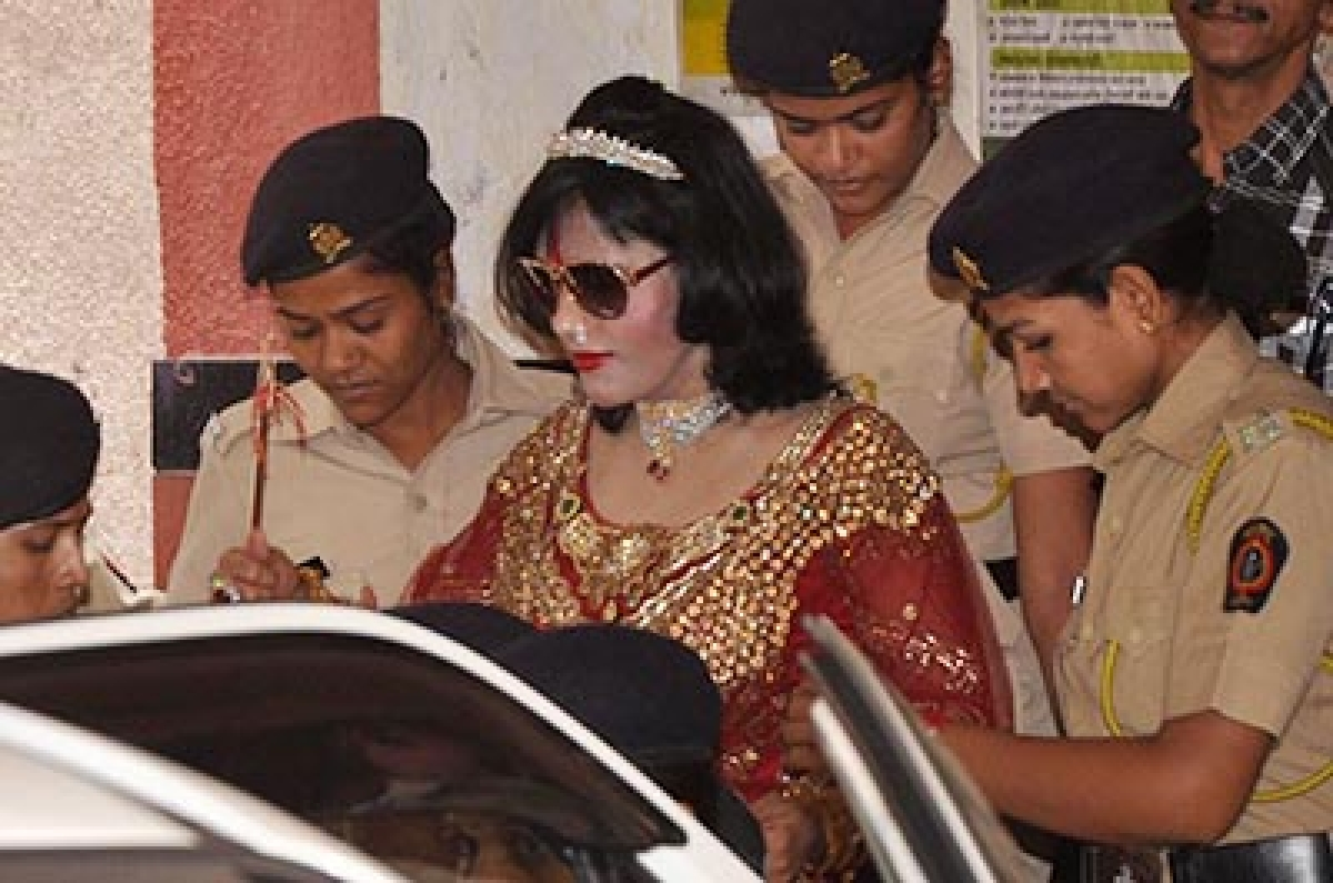 Mumbai :  Radhe Maa Second Time Produces in Kandivali police Station .Photo by BL SONI