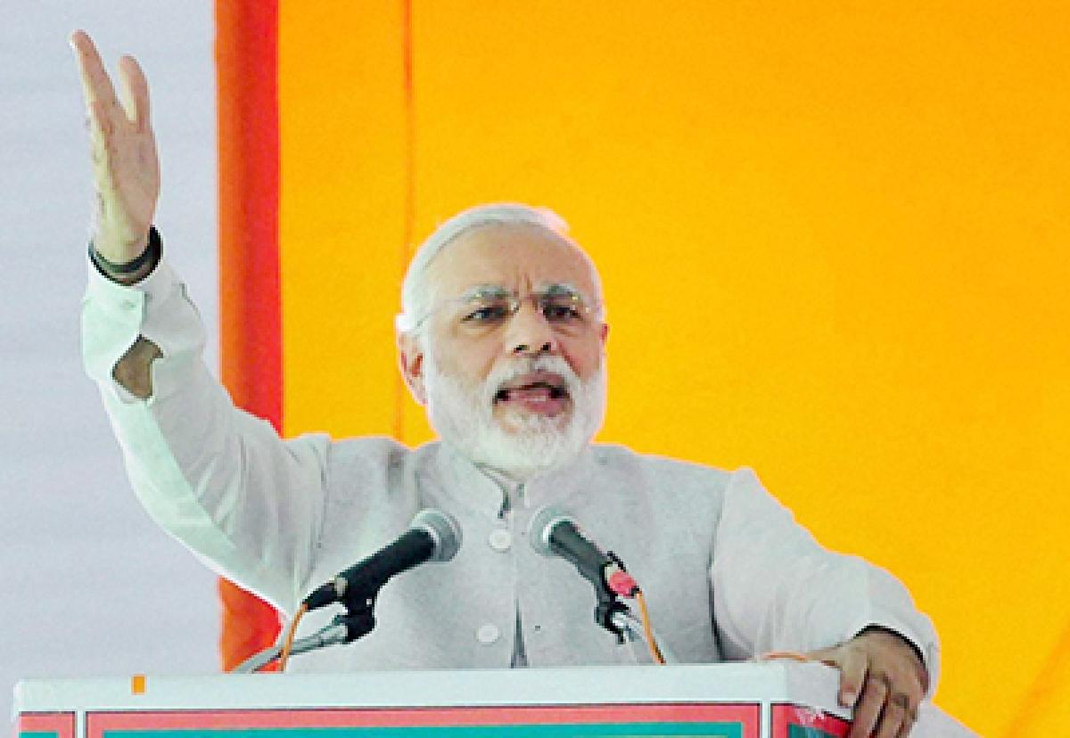 Modi Leaves Chai Wallah Chhap On Hindi Sammelan