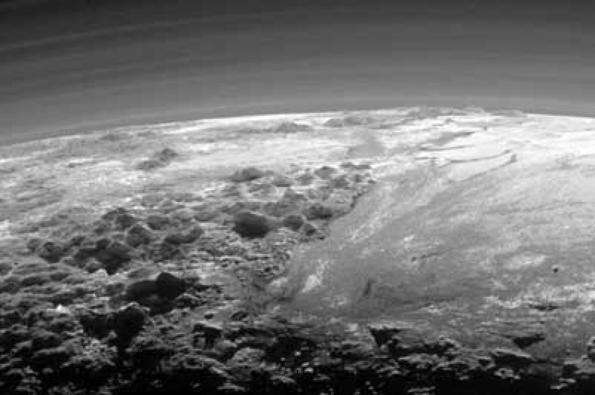 Hey, Pluto looks like our mother Earth!