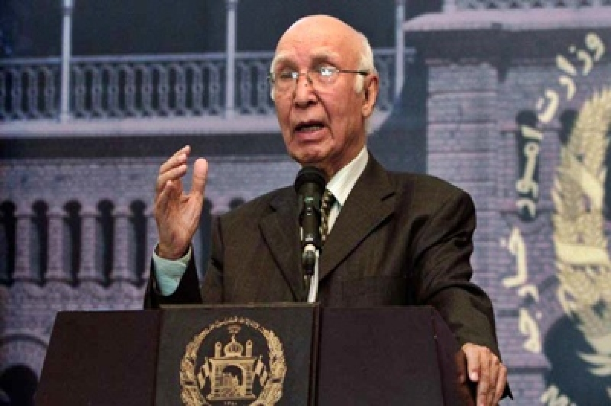Not fair to expect much from Indo-Pak talks next month: Sartaj Aziz