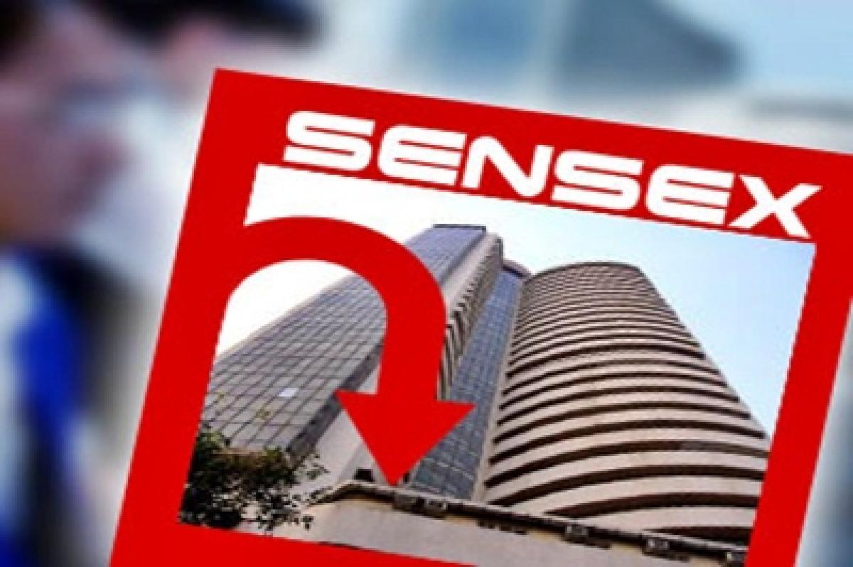 Sensex ends 285 pts down, Nifty below 7800