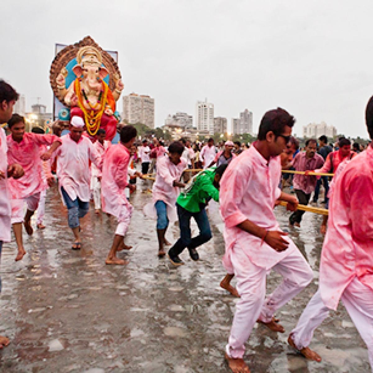 Elaborate security measures put in place in Mumbai and Pune for Ganpati Visarjan