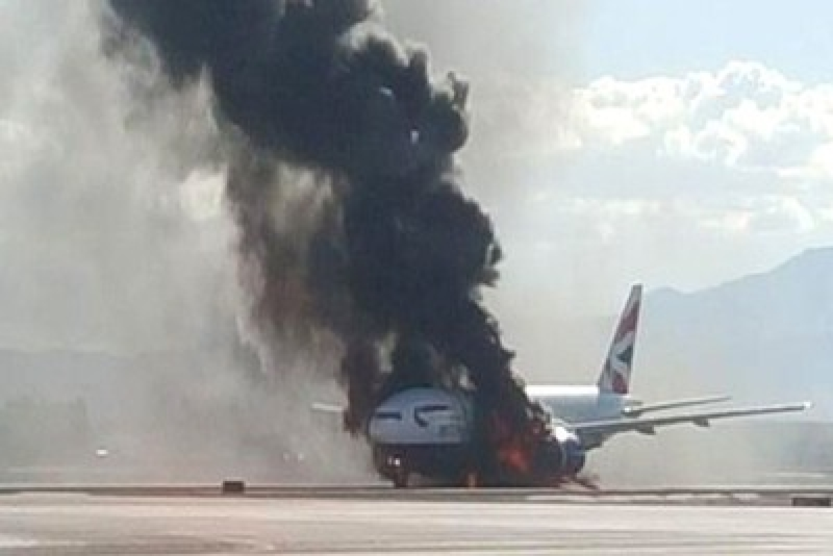 172 people miraculously escape after BA jet catches fire in US