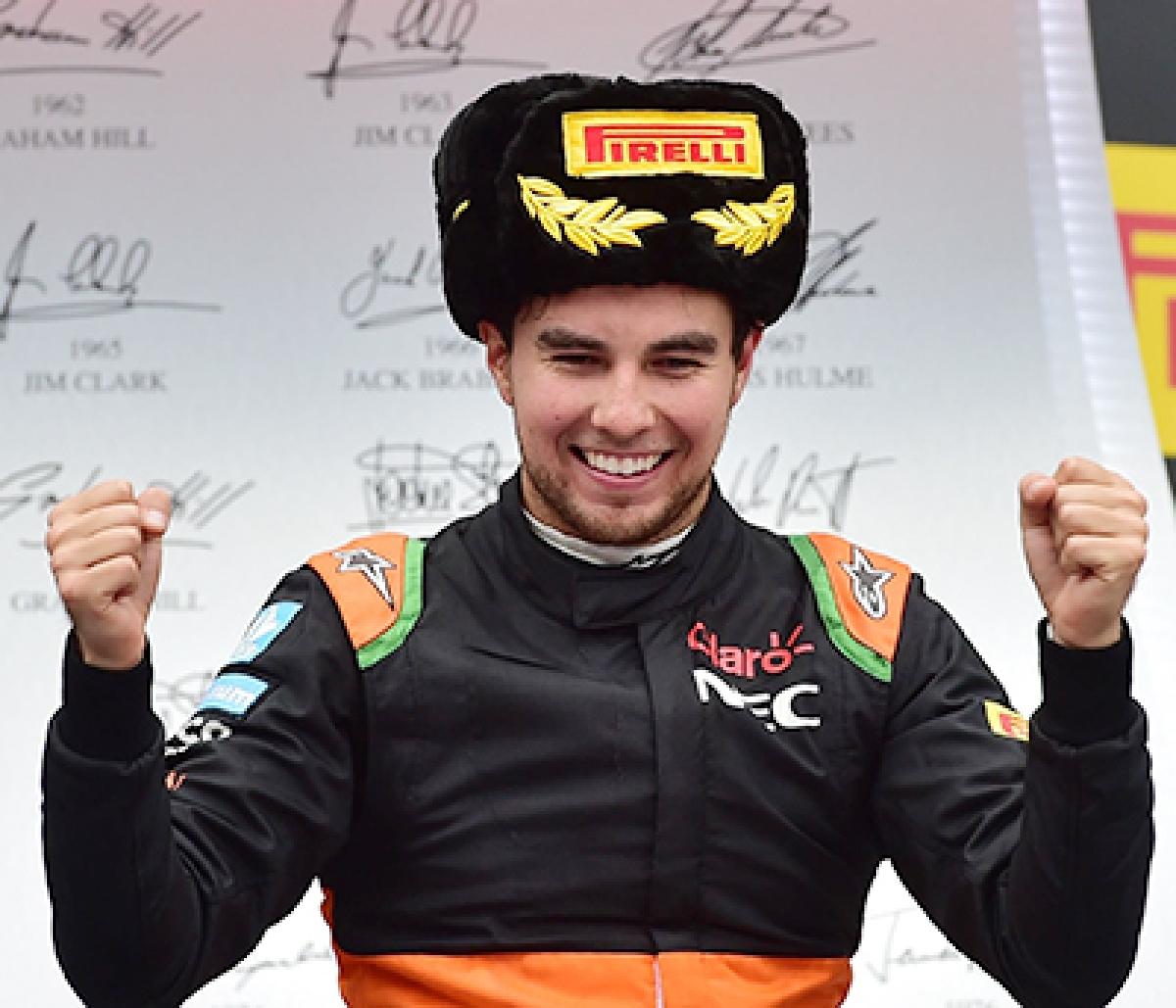 Sergio Perez claims rare  podium for Force India