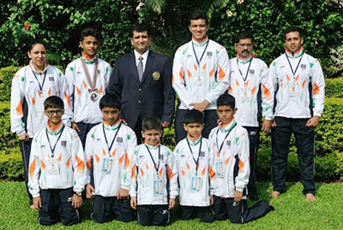 Team India bags  silver in karate